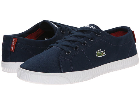 Lacoste Kids - Marcel WD K SP15 (Little Kid) (Dark Blue/Red) Boy