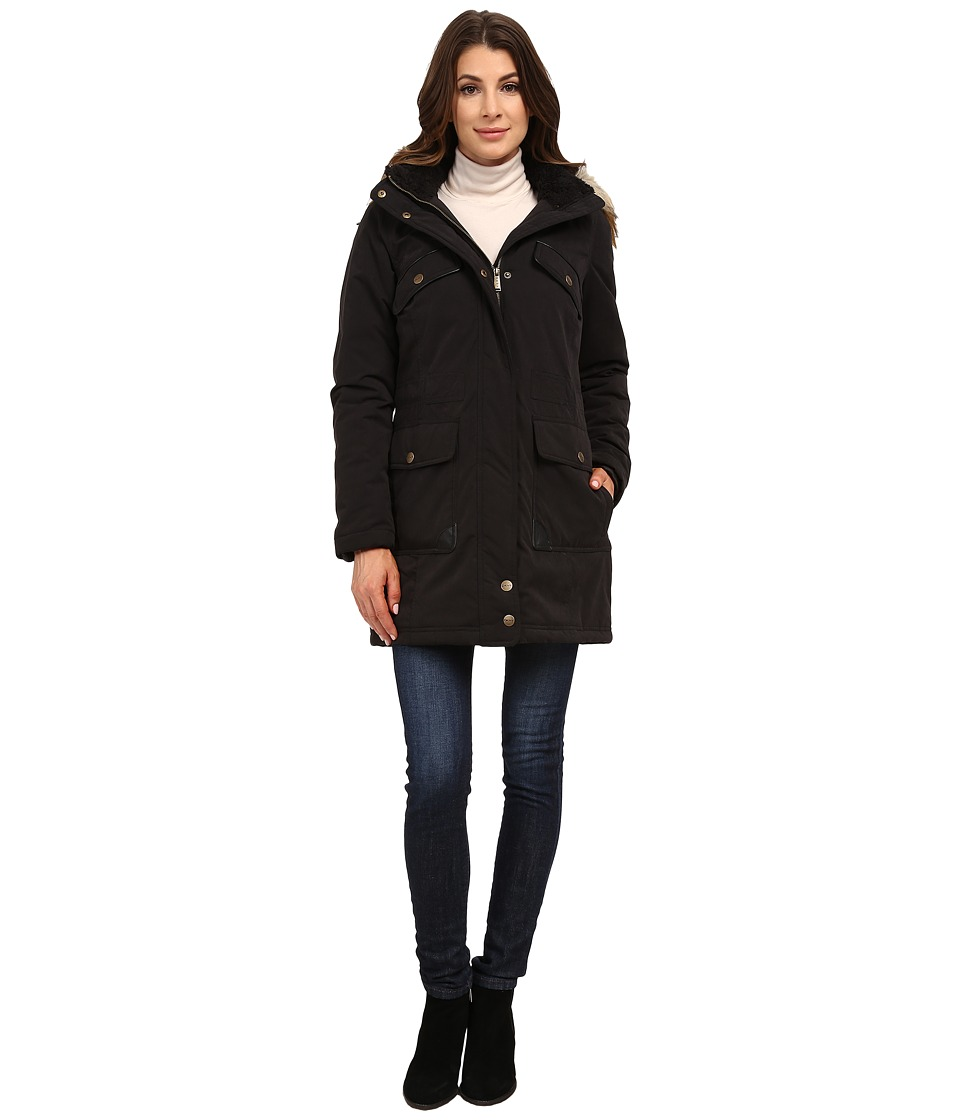 DKNY - Anorak w/ Chest Pockets Details 82377-Y5 (Black) Women's Coat
