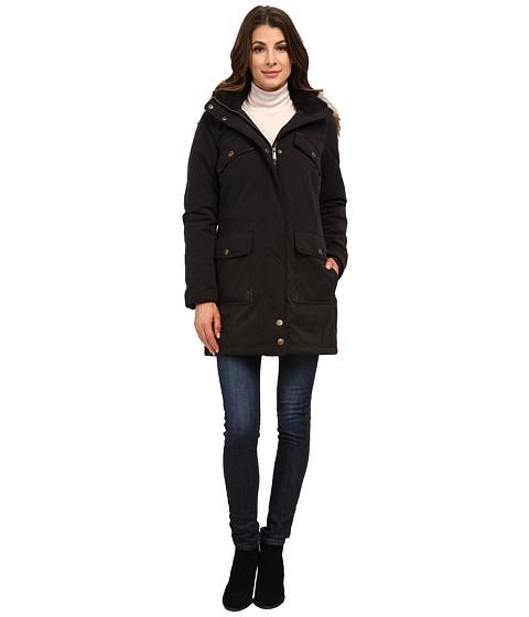 DKNY - Anorak w/ Chest Pockets Details 82377-Y5 (Black) Women's Coat
