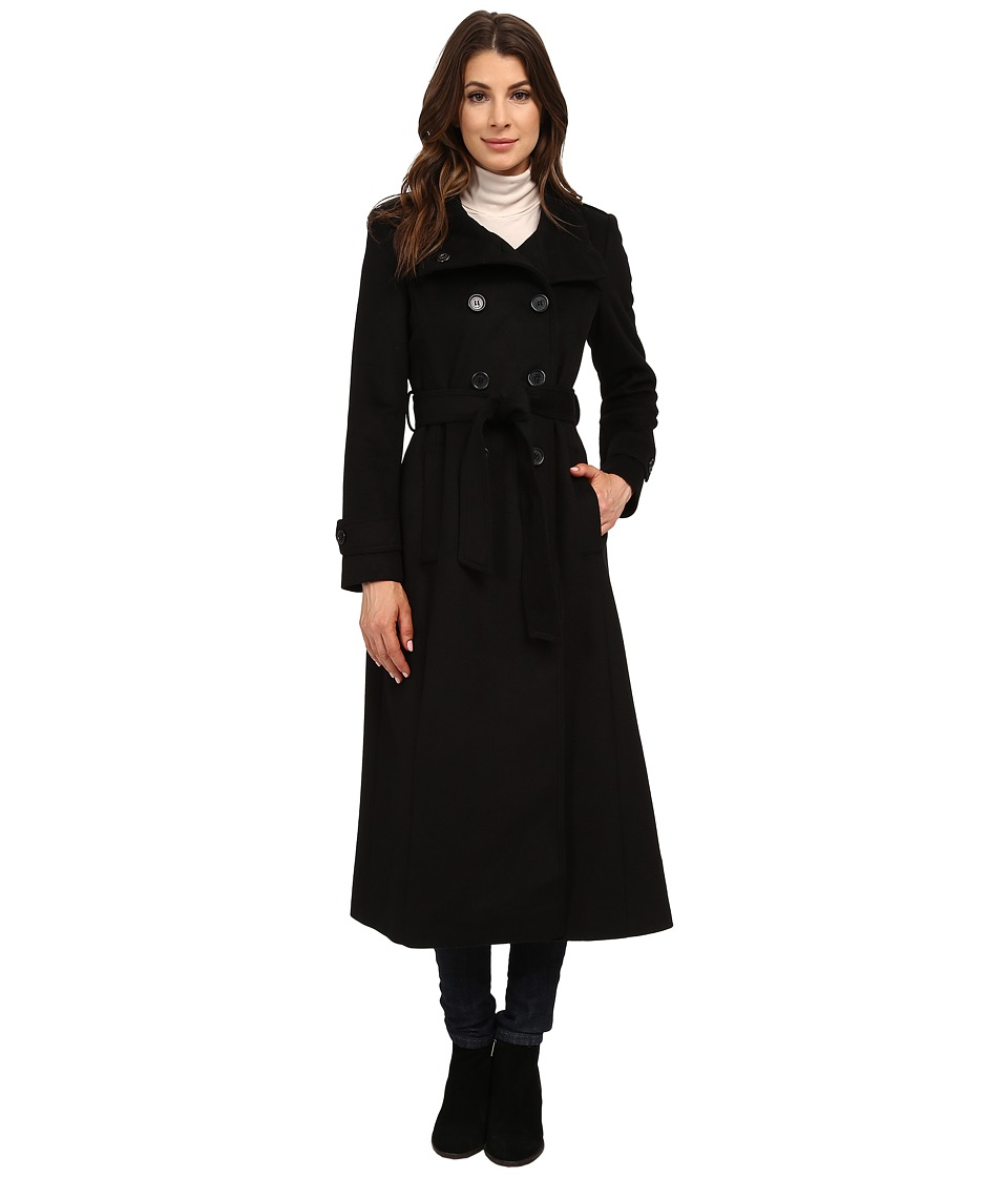 DKNY - Double Breasted Military Maxi 30343-Y5 (Black) Women's Coat