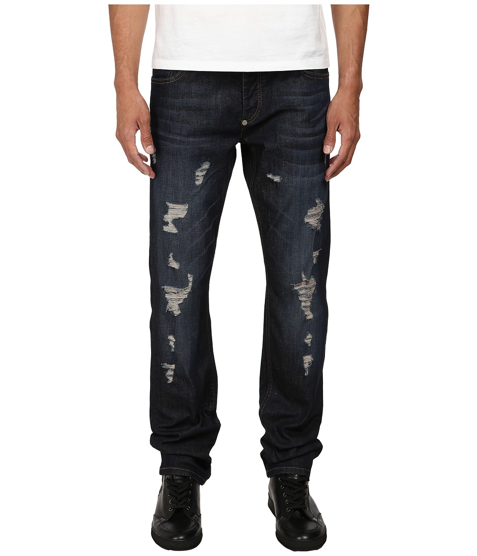 Philipp Plein - Distressed Denim (Army Blue) Men's Jeans