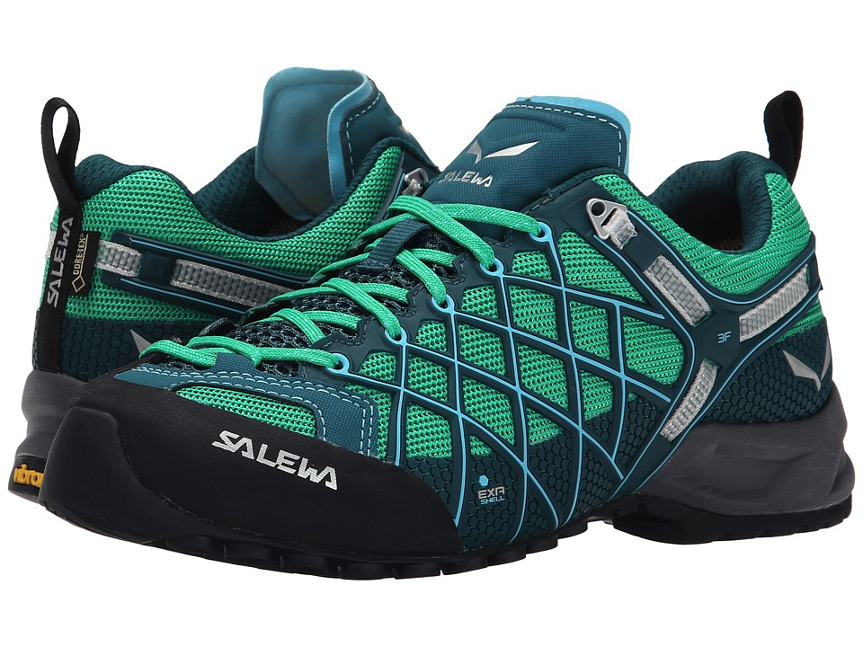SALEWA - Wildfire S GTX(r) (Cypress/River Blue) Women's Shoes