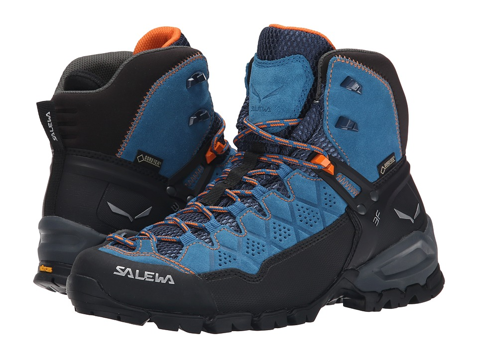 SALEWA - Alp Trainer Mid GTX (Washed Denim/Carrot) Women's Shoes