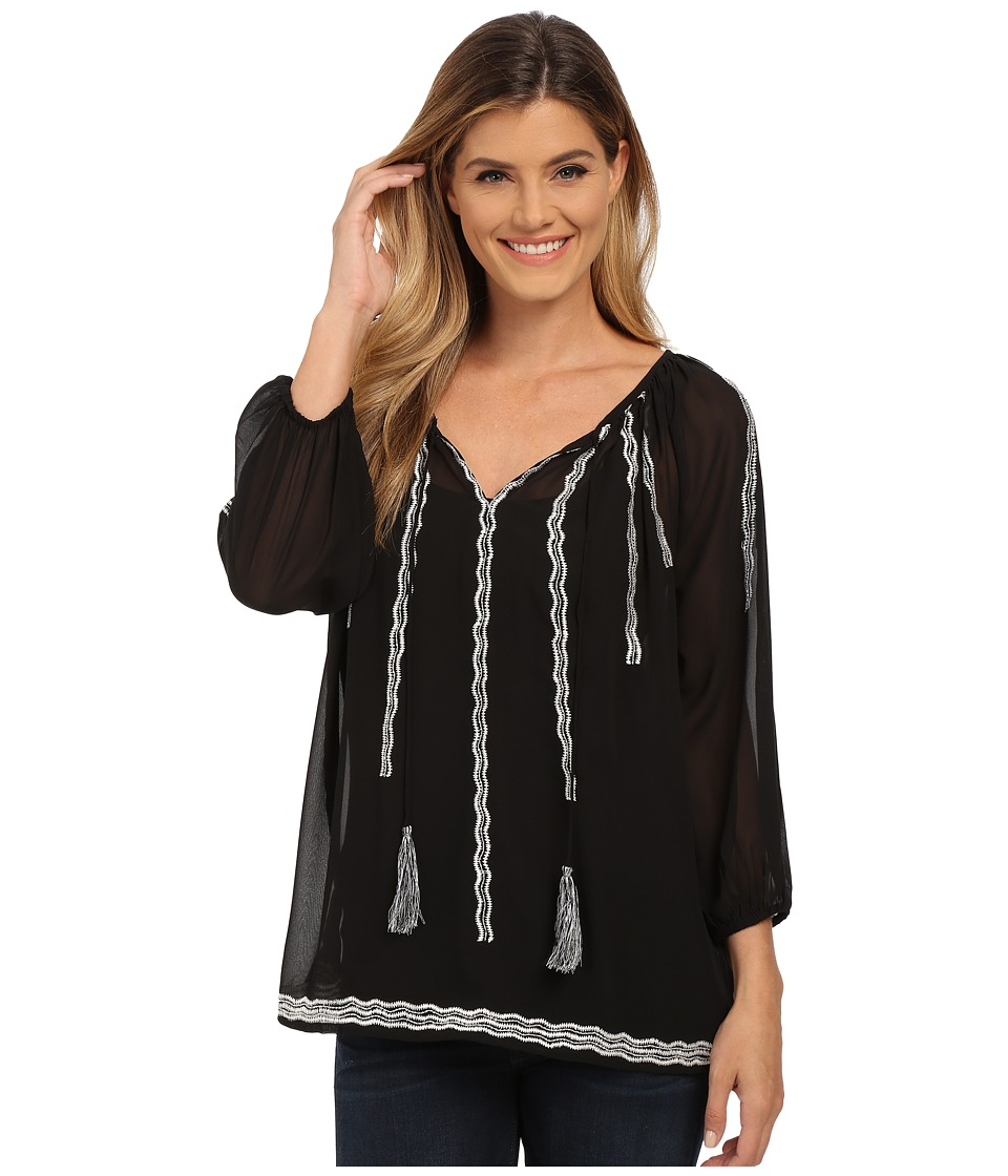 KAS New York - Munisah Top (Black) Women's Blouse