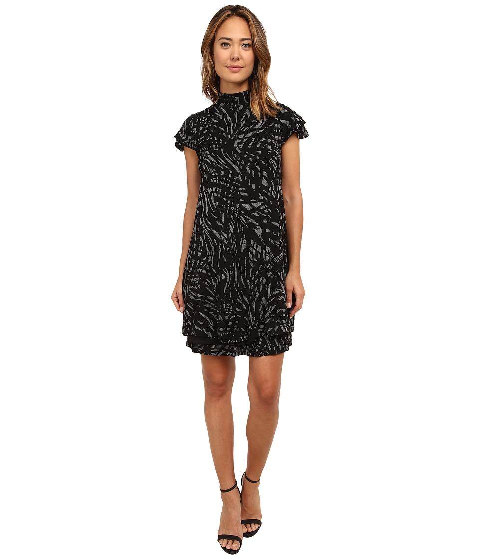 kensie - Messy Lines Dress KS8K7646 (Heather Ash Combo) Women