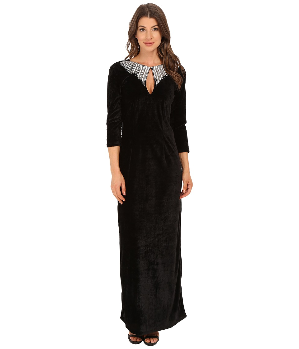 KAS New York Sheenagh Dress (Black) Women