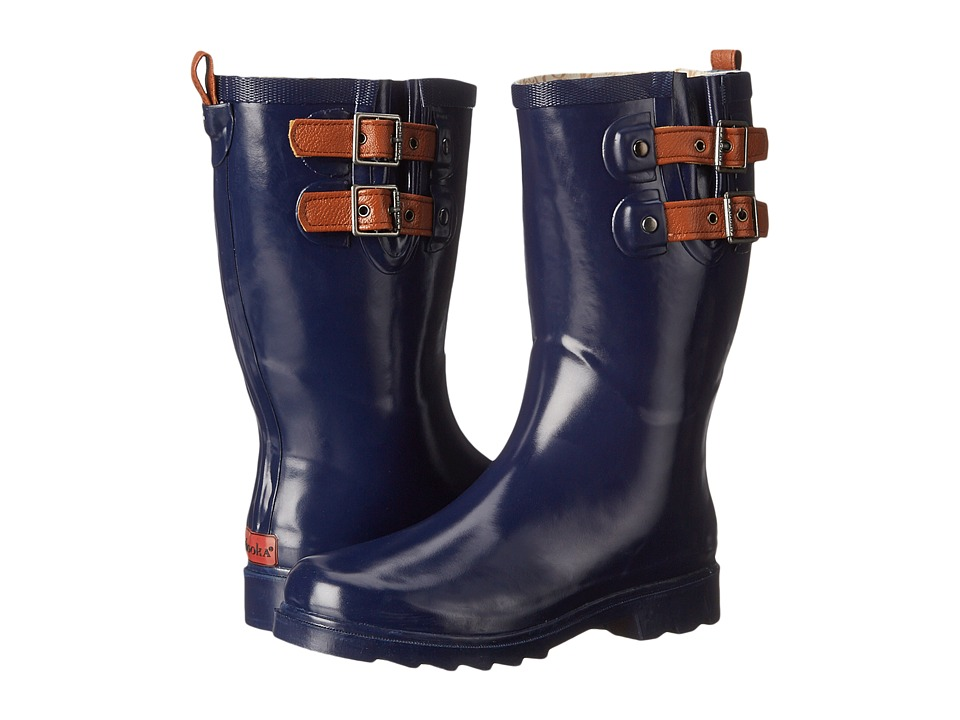 Chooka - Top Solid Dual Strap Mid (Midnight) Women's Rain Boots
