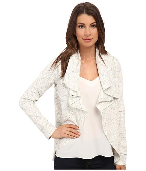 kensie - Streaky Slub Ponte Jacket KS8K2213 (Ivory Multi) Women's Coat