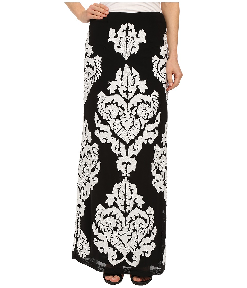 KAS New York - Najma Maxi Skirt (Black/White) Women's Skirt