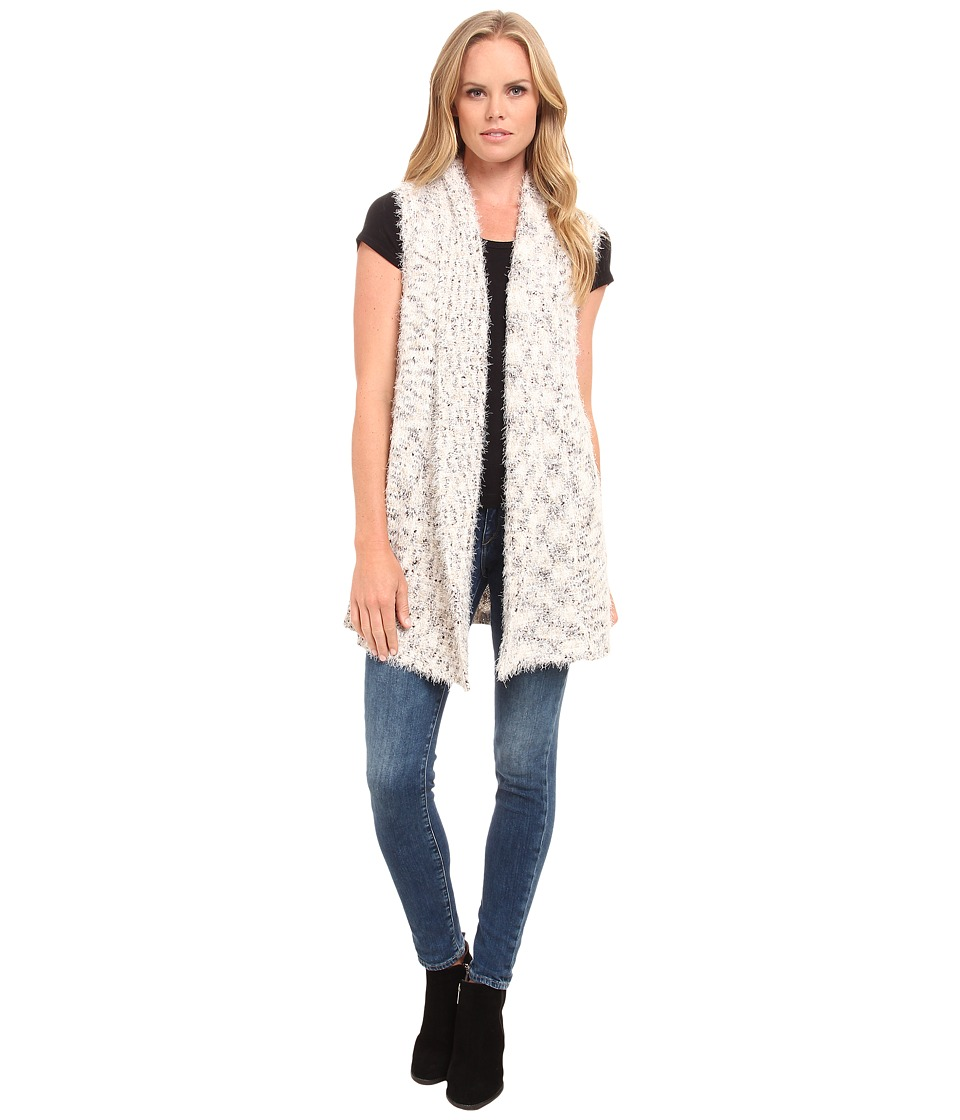 kensie - Fur and Space Dye Vest KS9K5768 (Ivory Multi) Women's Vest
