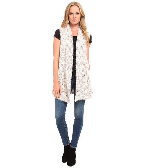 kensie - Fur and Space Dye Vest KS9K5768 (Ivory Multi) Women's Vest