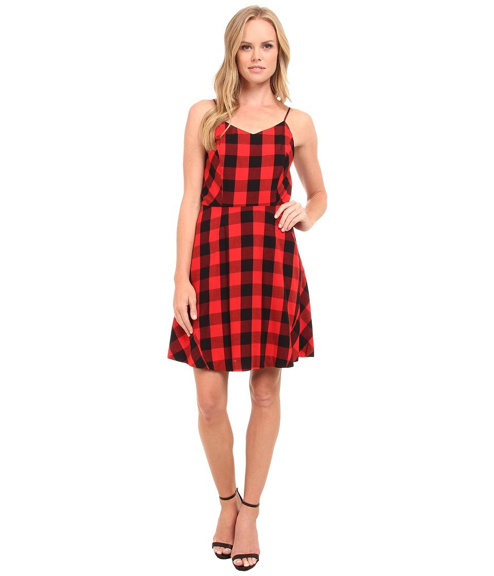 kensie - Buffalo Check Dress KS9K7701 (Paprika Multi) Women's Dress