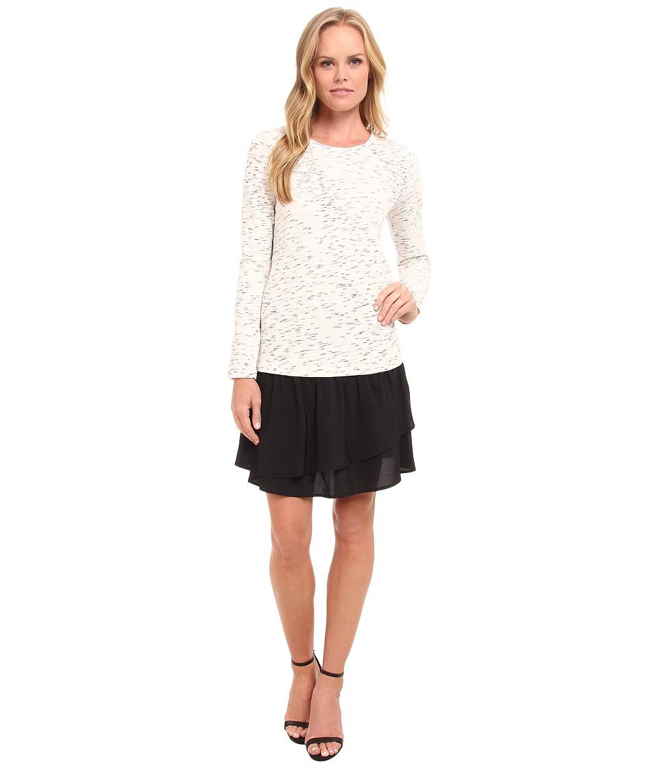 kensie - Soft Streak Terry Dress KS9K7711 (Ivory Multi) Women's Dress