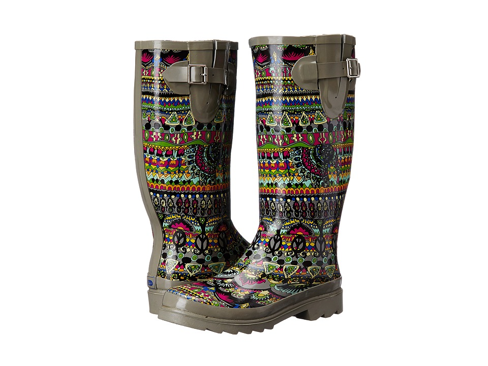 Sakroots - Rhythm (Charcoal One World) Women's Rain Boots