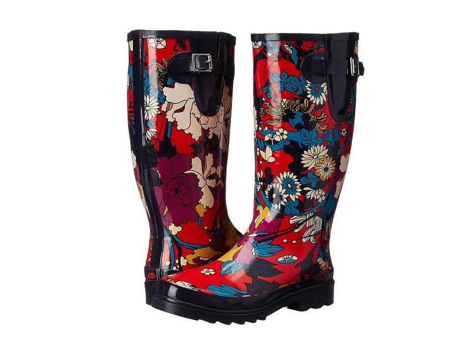 Sakroots - Rhythm (Crimson Flower Power) Women's Rain Boots