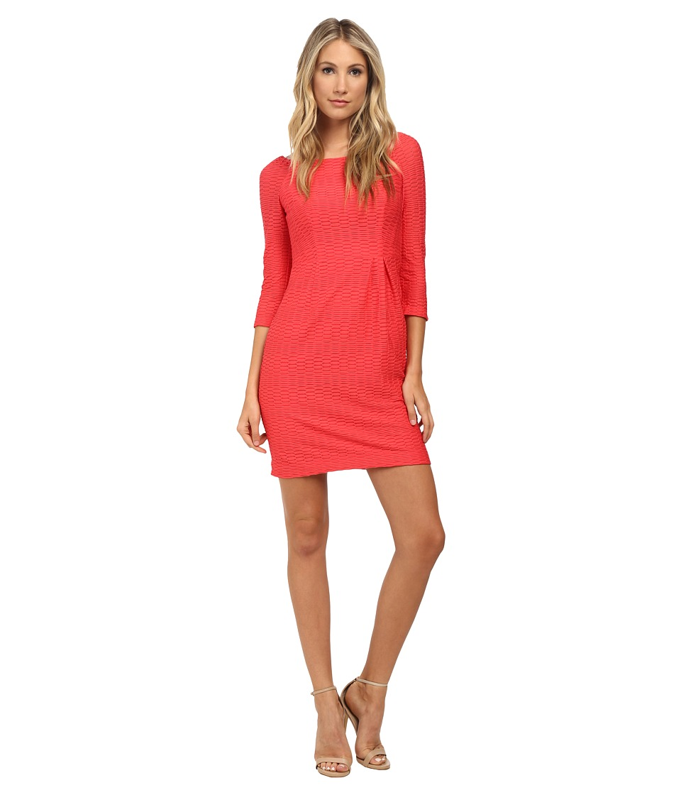 Nanette Lepore - Sleek Chic Dress (Coral) Women's Dress
