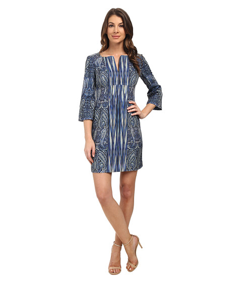 Nanette Lepore - Cosmic Paisley Dress (Indigo Multi) Women's Dress