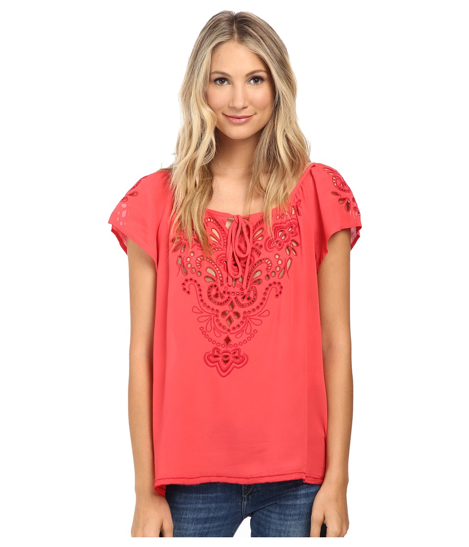 Nanette Lepore - Staycation Top (Coral) Women's Clothing
