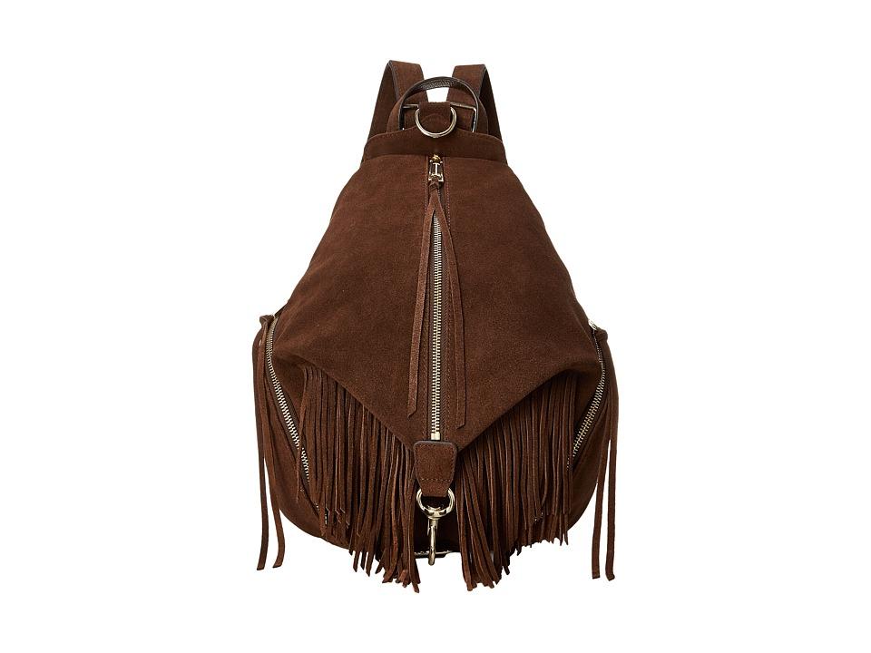 Rebecca Minkoff - Fringe Julian Backpack (Chocolate) Backpack Bags