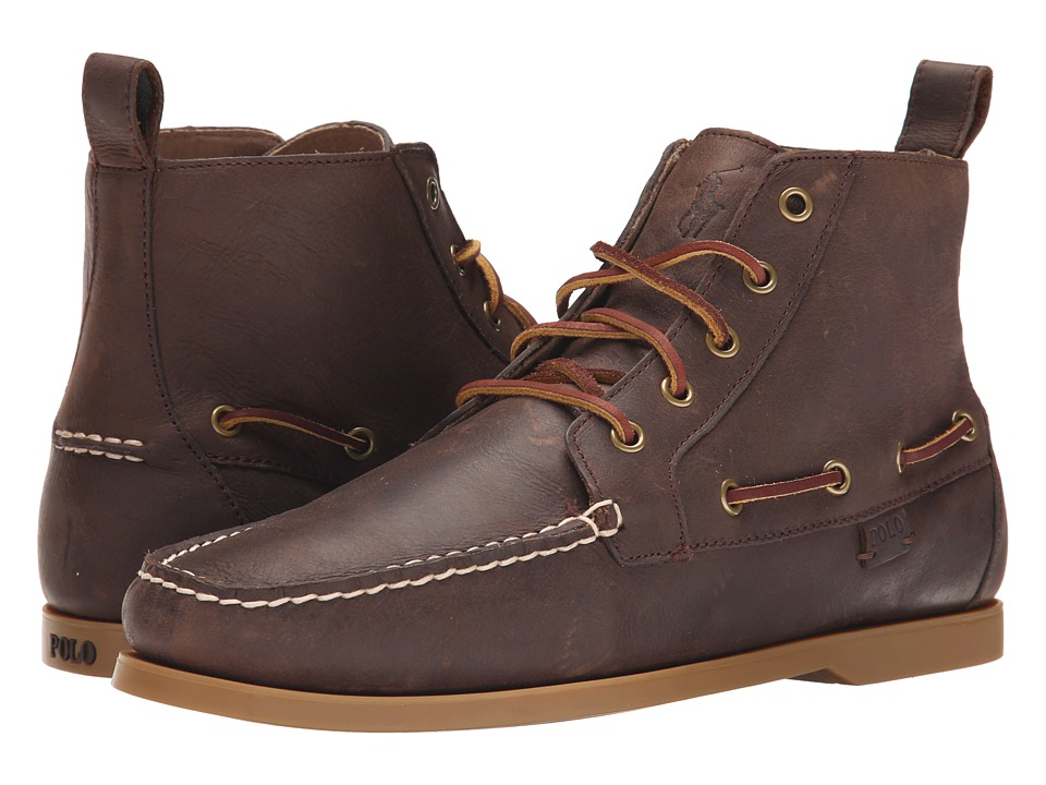 Polo Ralph Lauren - Barrott (Dark Brown Waxy Pull Up) Men