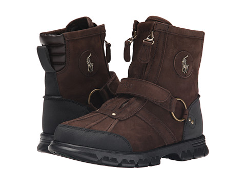 Polo Ralph Lauren - Conqst H III (Dark Brown Silky Nubuck) Men