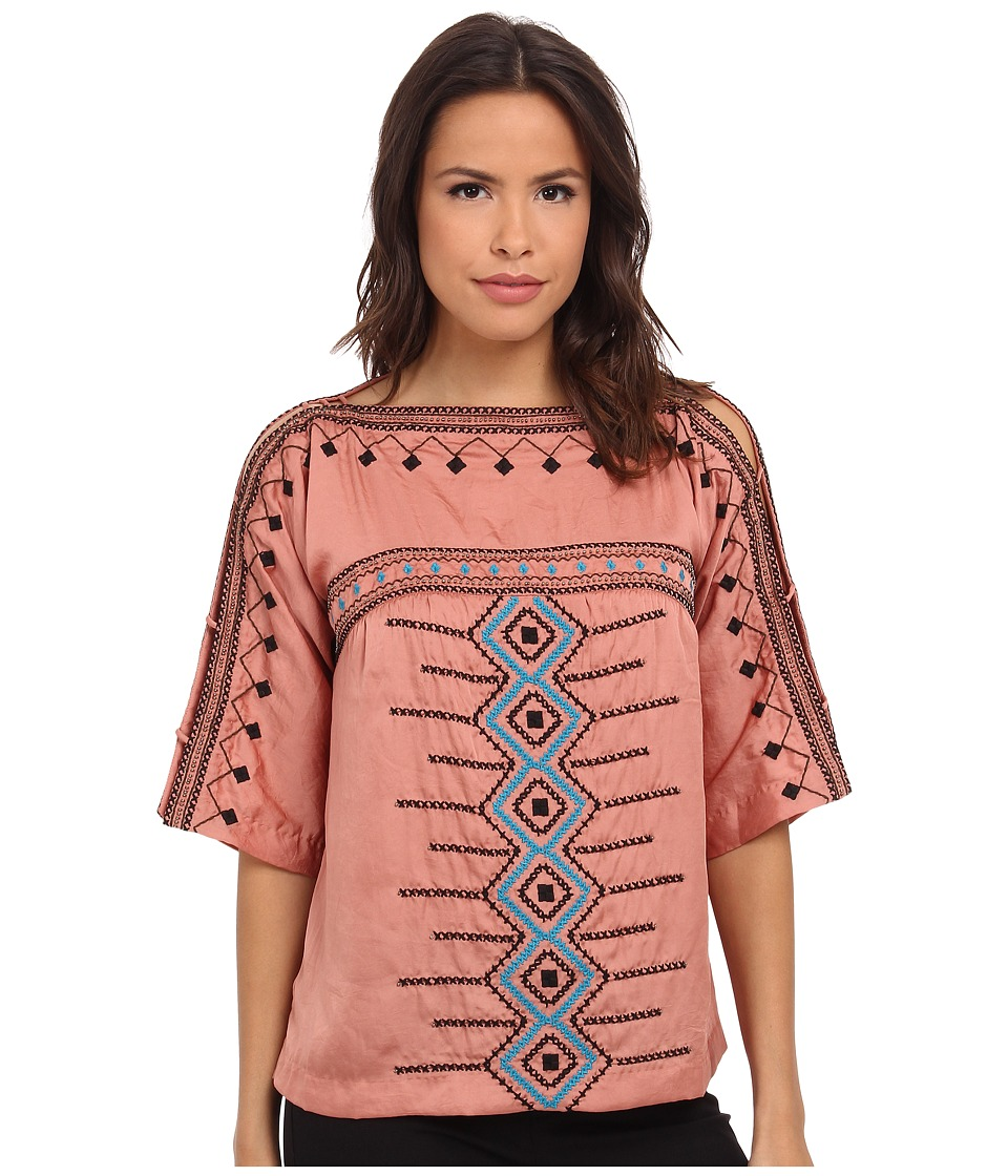 Nanette Lepore - Tune in Turn On Top (Marsala) Women's Clothing
