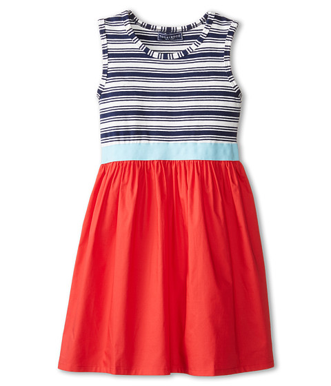 Toobydoo - Roxanna Party Dress (Toddler/Little Kids/Big Kids) (Red Navy) Girl's Dress