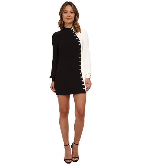 Rachel Zoe - Mckell Color Block Dress (Black/White) Women's Dress