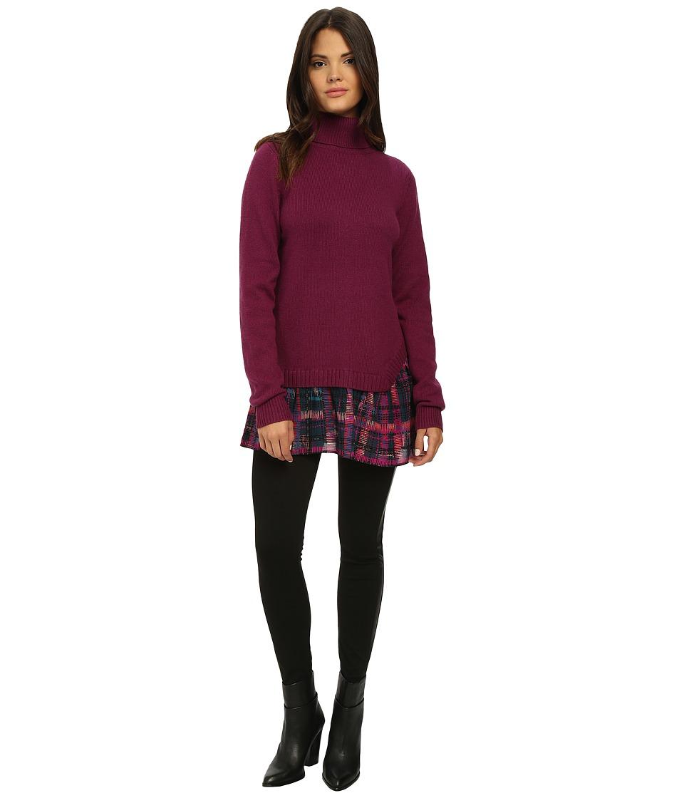 Nanette Lepore - Hush Hush Sweater (Raspberry) Women