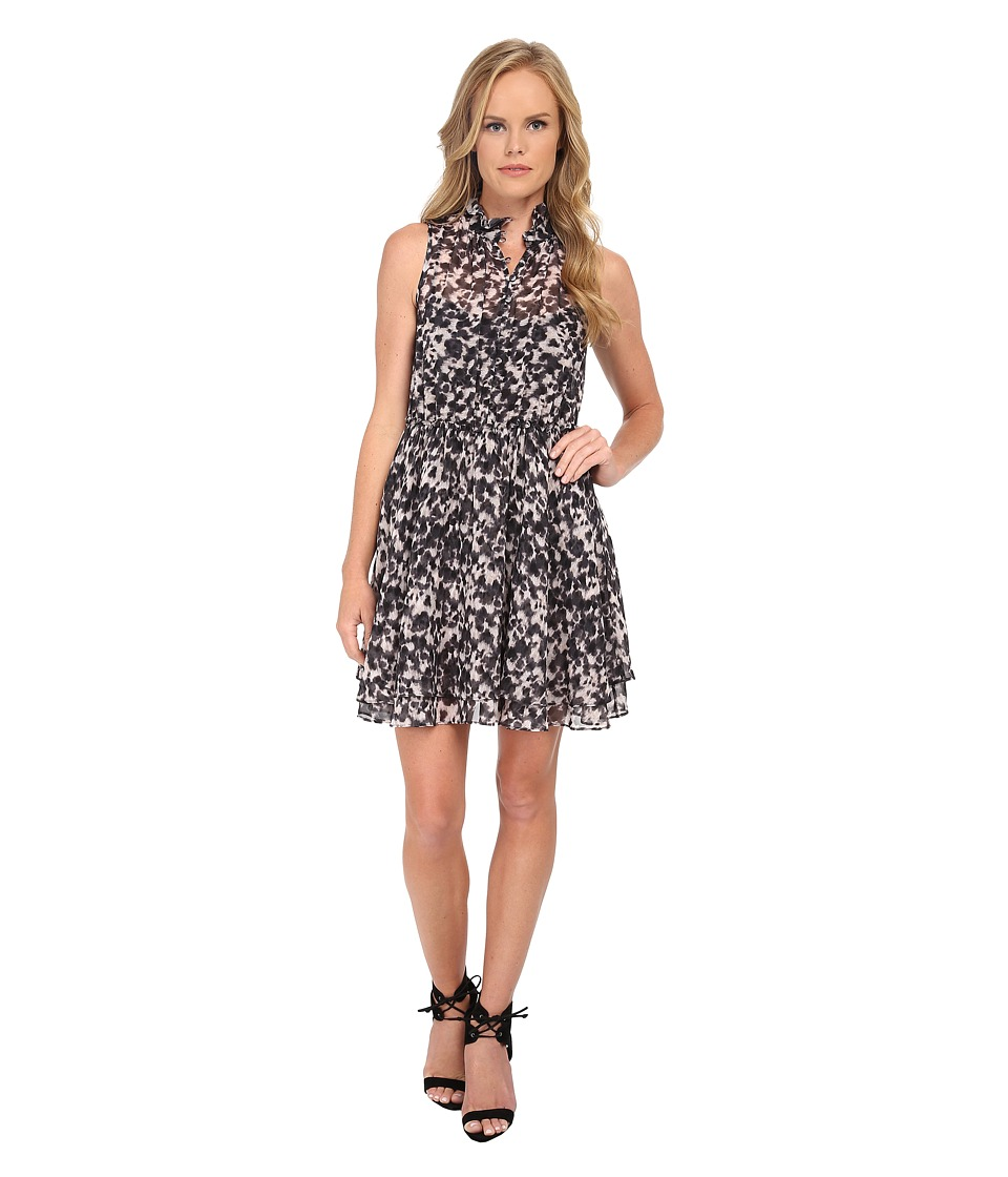 Rachel Zoe Cruz Ruffle Dress (Black Multi) Women