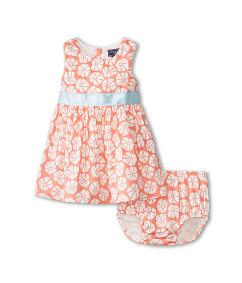 Toobydoo - Flower Party Dress (Infant/Toddler/Little Kids/Big Kids) (Coral) Girl
