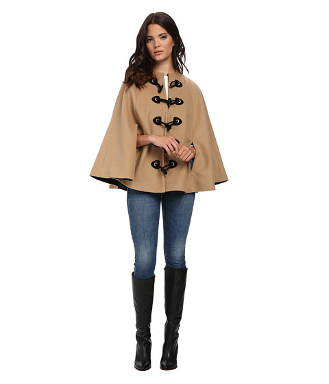 Rachel Zoe - Ammon Cape (Camel/Black) Women's Coat