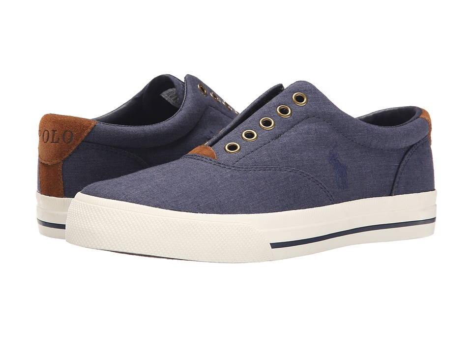 Polo Ralph Lauren - Vito (Newport Navy Heather Rip Stop) Men's Lace up casual Shoes