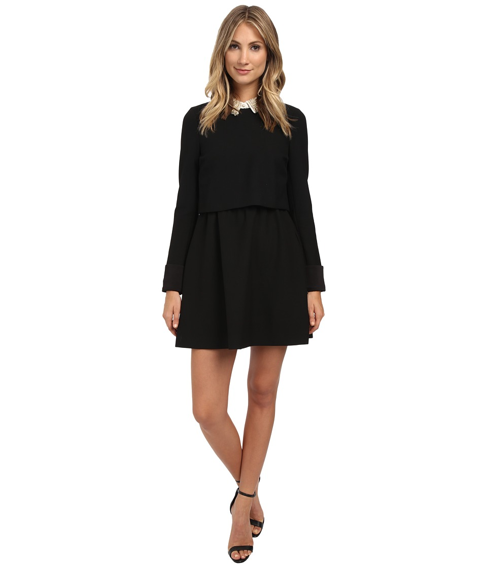 Rachel Zoe - Bliss Pearl Collar Dress (Black/White) Women's Dress