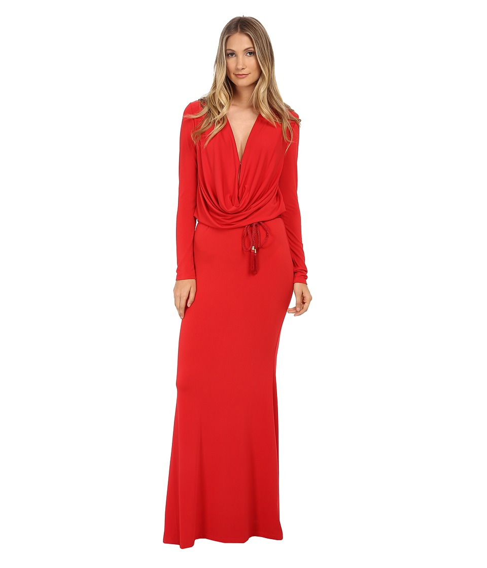 Rachel Zoe - Field Cowl Front Gown (Red) Women's Dress