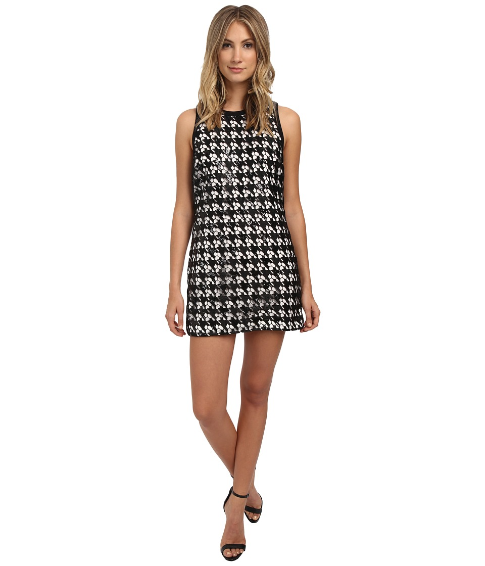 Rachel Zoe - Zadie Houndstooth Lace Sequin Dress (Black/White) Women's Dress