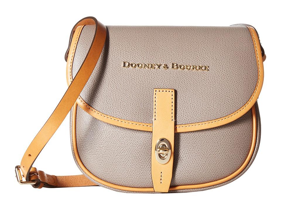 Dooney & Bourke - Claremont Field Bag (Taupe/Butterscotch Trim) Cross Body Handbags