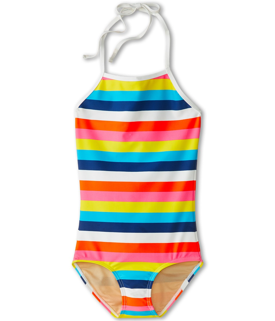 Toobydoo - Surf Stripe Swimsuit (Infant/Toddler/Little Kids/Big Kids) (Rainbow) Girl's Swimsuits One Piece