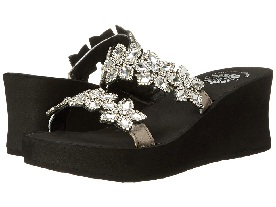 Yellow Box - P-Aruna (Pewter) Women's Wedge Shoes