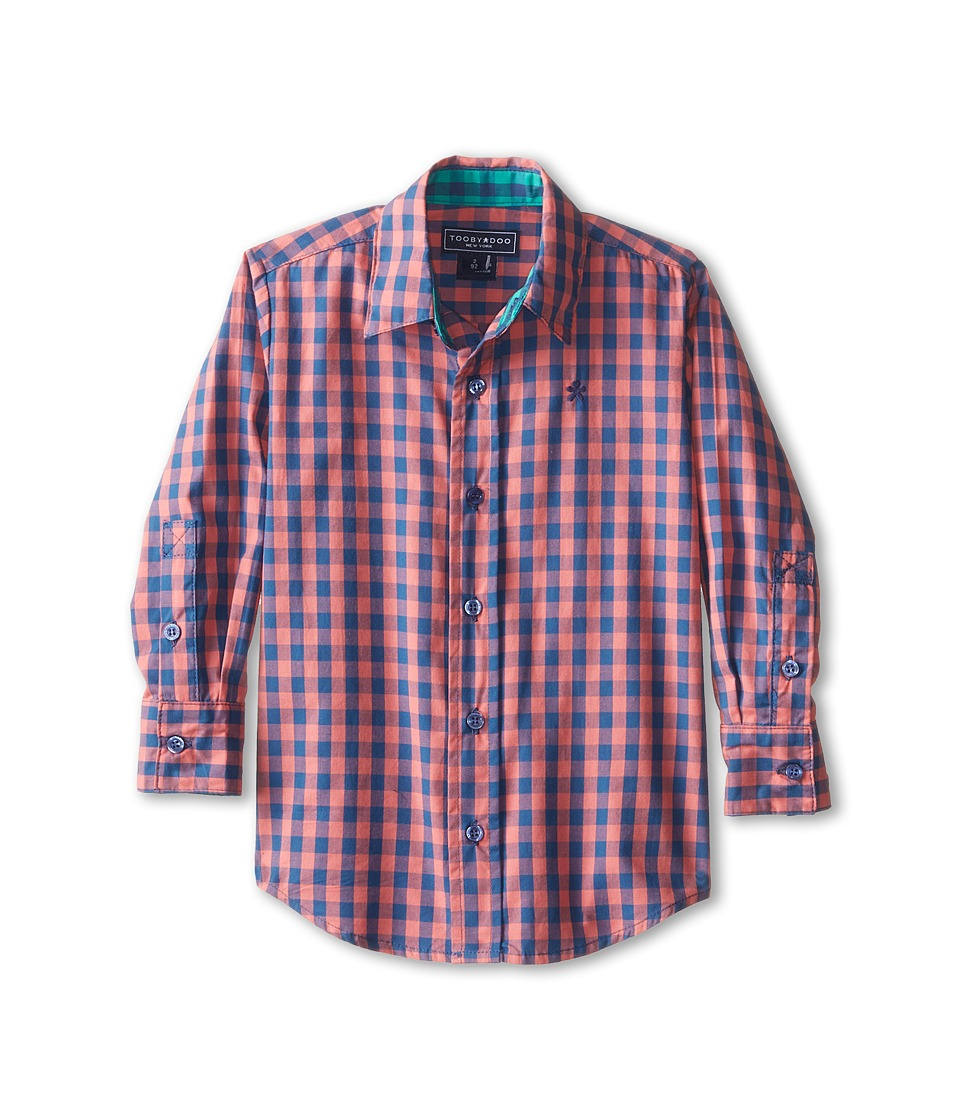 Toobydoo - The Oscar Dress Shirt (Infant/Toddler/Little Kids/Big Kids) (Red) Boy's Long Sleeve Button Up