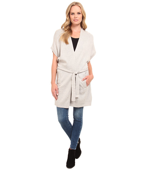 Splendid - Belted Cardi (Light Heather Grey) Women's Sweater