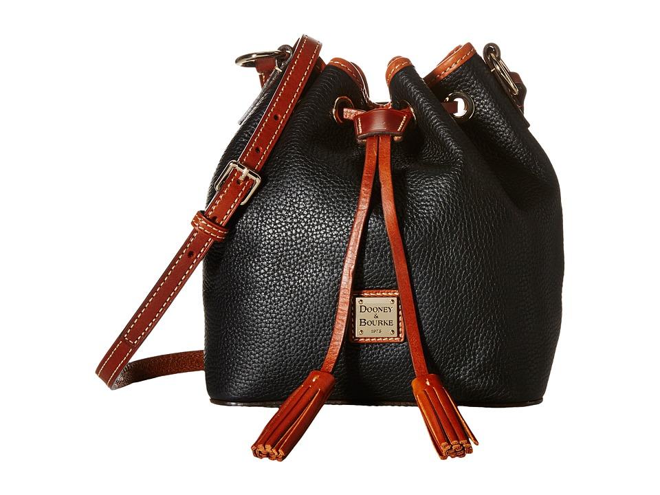 Dooney & Bourke - Pebble Kendall Crossbody (Black/Tan Trim) Cross Body Handbags