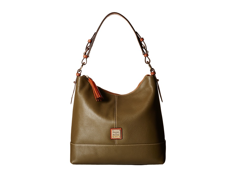 Dooney & Bourke - Pebble Sophie Hobo (Olive/Tan Trim) Hobo Handbags