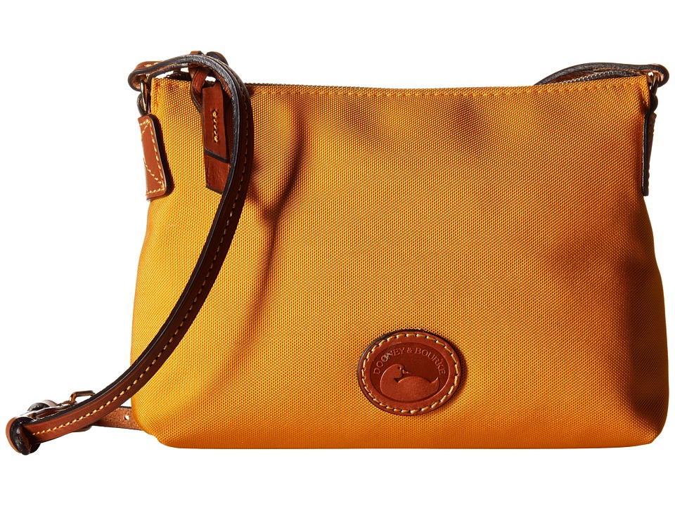 Dooney & Bourke - IN Nylon New SLGS Styles Crossbody Pouchette (Marigold/Tan Trim) Cross Body Handbags