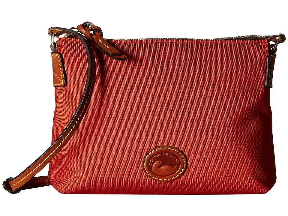 Dooney & Bourke - IN Nylon New SLGS Styles Crossbody Pouchette (Brick/Tan Trim) Cross Body Handbags