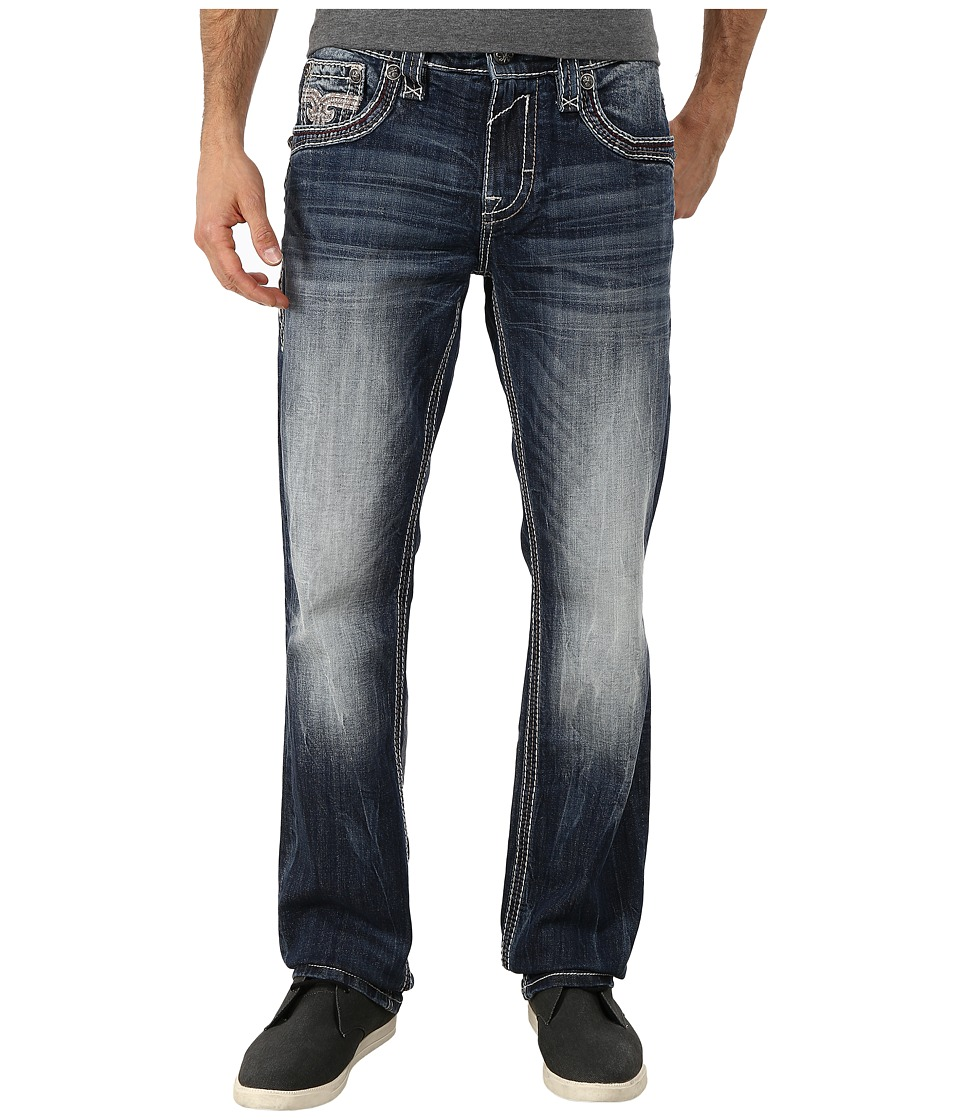 Rock Revival - Crete J (Medium Indigo) Men's Jeans