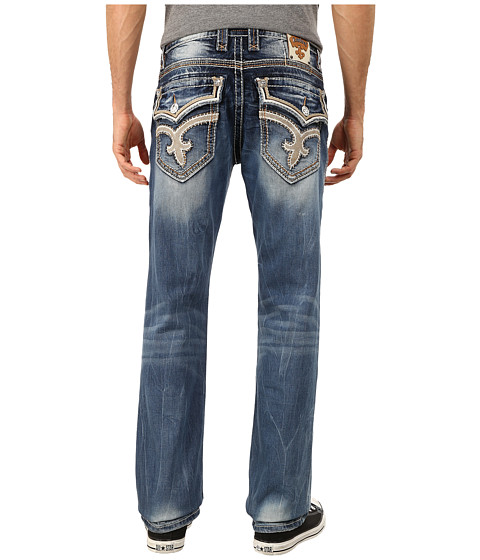 Rock Revival - Jacoby J4 (Medium Indigo) Men's Jeans