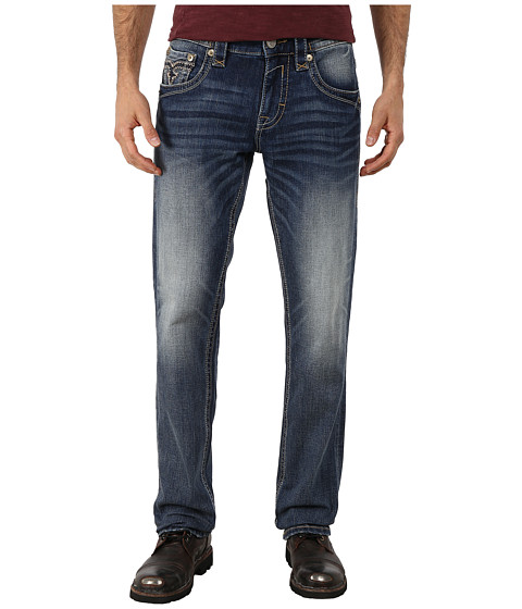 Rock Revival - Tapy A400 Alternative Straight (Medium Indigo) Men's Jeans