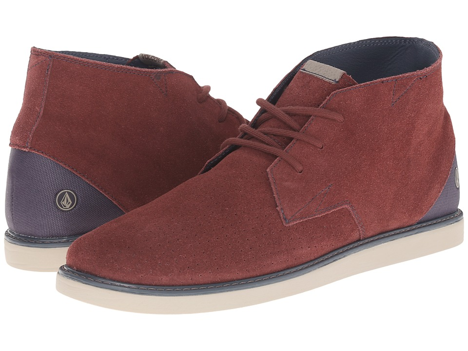Volcom - Del Mesa 2 (Crimson) Men's Lace up casual Shoes