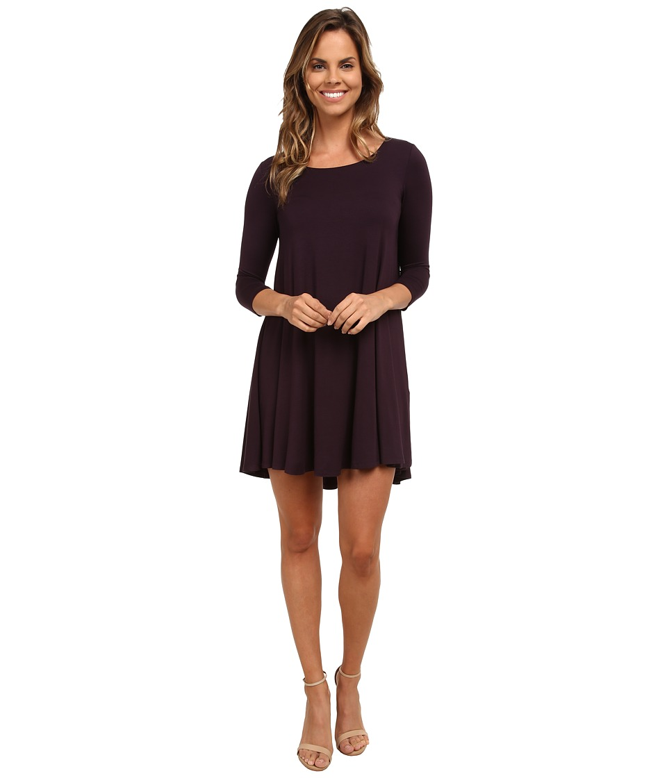 Karen Kane - Swing Dress (Eggplant) Women's Dress